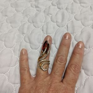 Ruby Rose Bud Ring